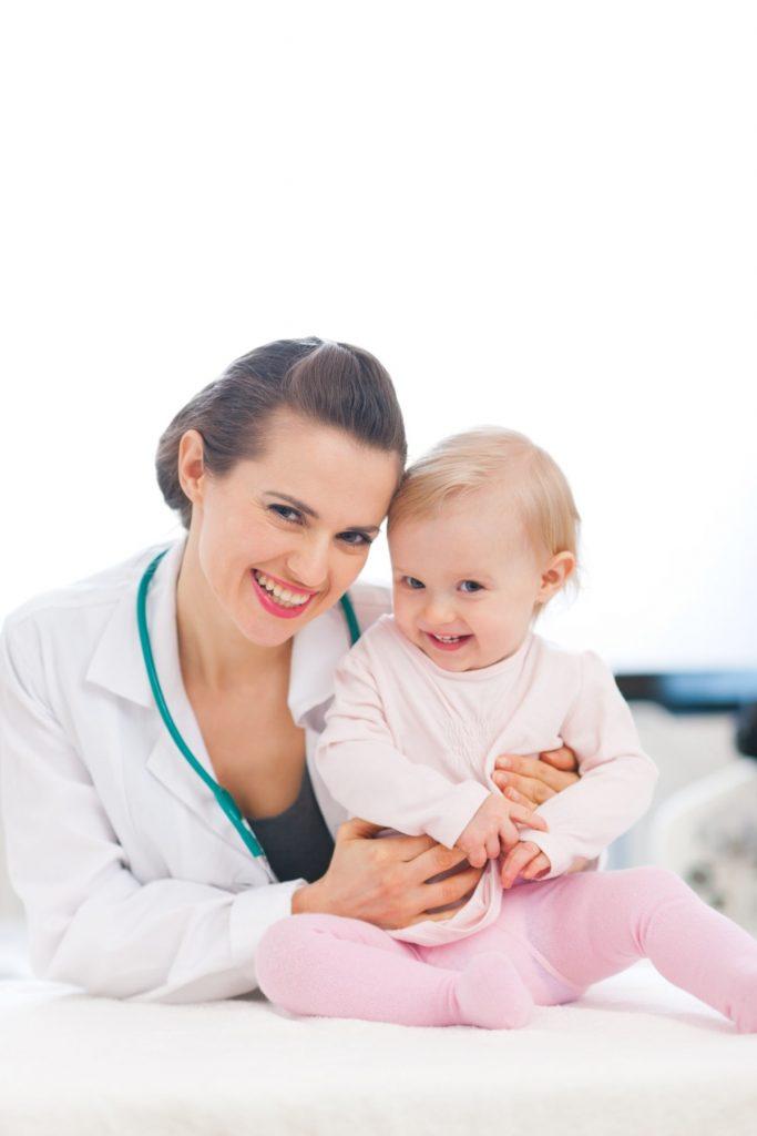 odlazak pedijatru, prvi pregled