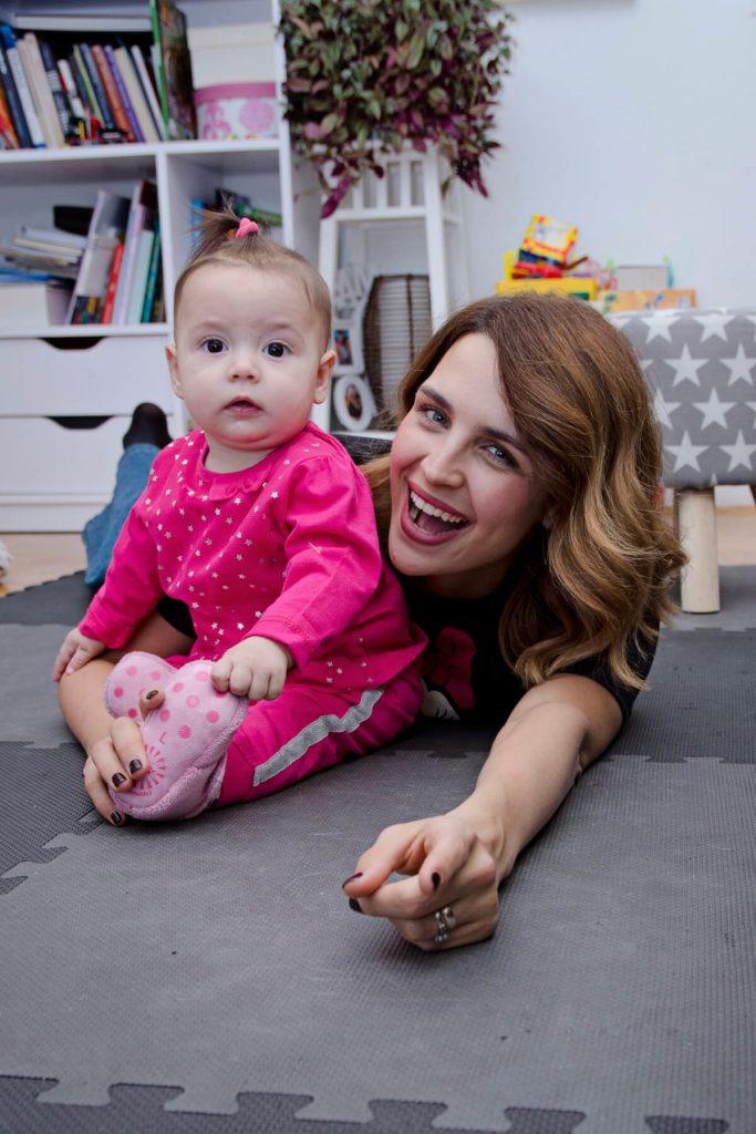 Doris Pinčić Rogoznica, mama i beba