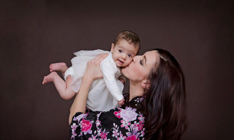 Ana Herceg, mama i beba