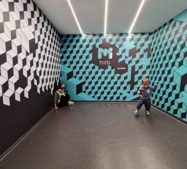 muzej iluzija, nošenje djece