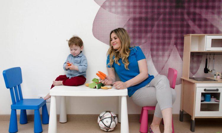Lana Pavić, mama i beba