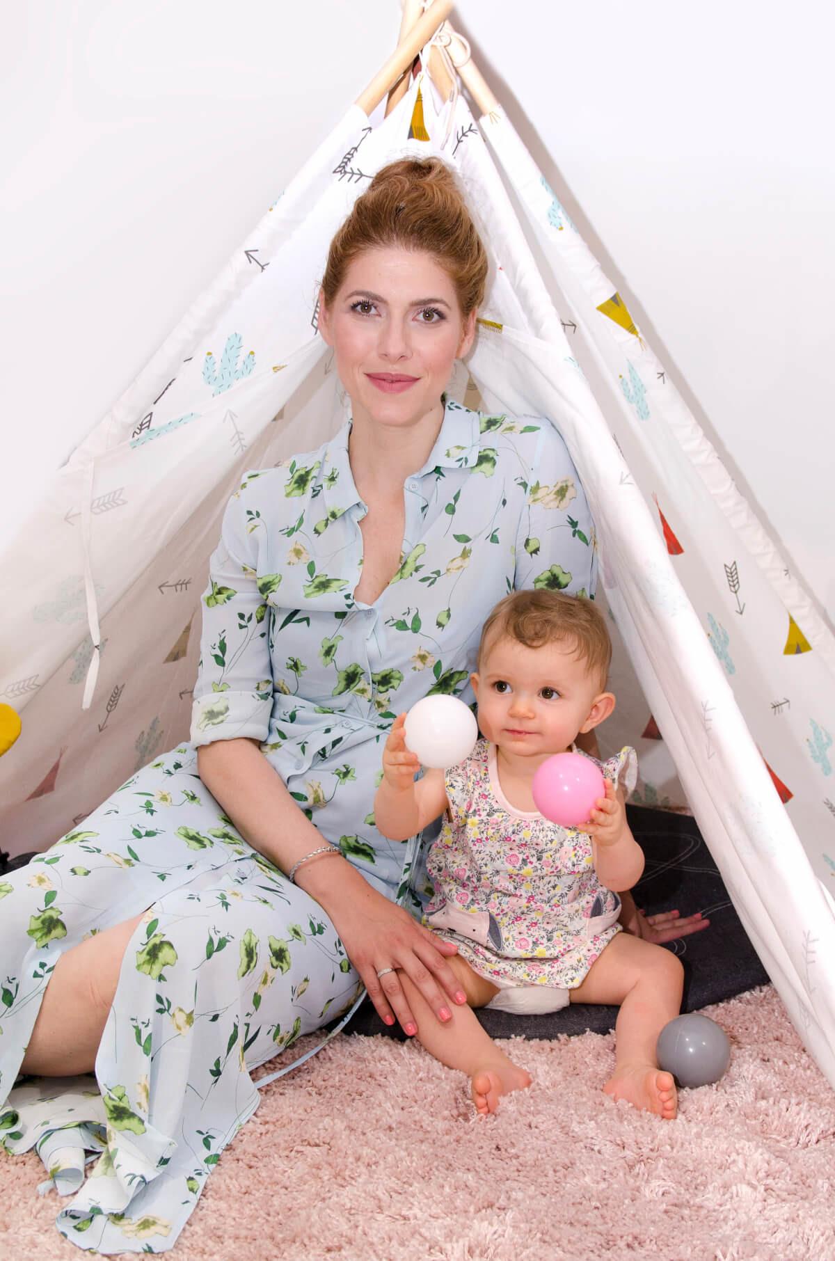 Jelena Otašević Babić, mama i beba