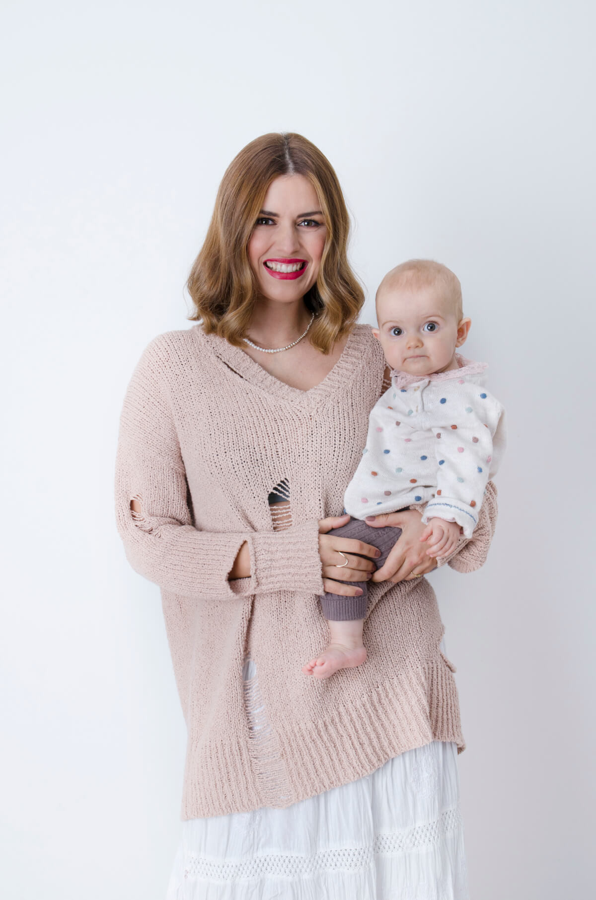 Anita Dujić, mama i beba